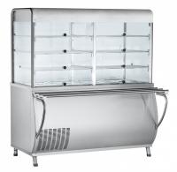Мини изображение Прилавок-витрина холодильный ПВВ(Н)-70М-С-01-НШ нерж.