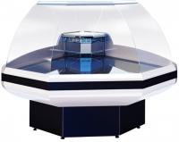 Мини изображение Витрина холодильная Gamma-2  ОС 90 (угол внешний) КРАСНЫЙ RAL 3004