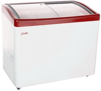 Ларь морозильный МЛГ-350 красный