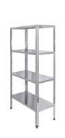 Стеллаж кухонный Luxstahl СР-1800x600x600/4