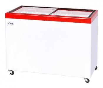 Ларь морозильный  МЛП-400 красный